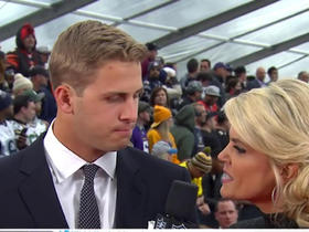 Watch: Goff was 'very excited' when Rams traded for No. 1 pick