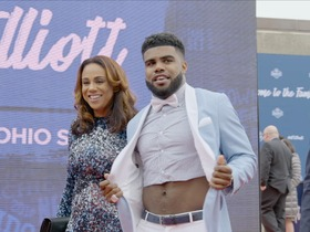 Watch: Ezekiel Elliott rocks crop-top on red carpet at 2016 NFL Draft
