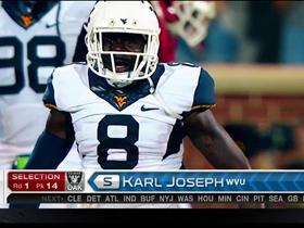 Watch: Raiders pick Karl Joseph No. 14
