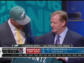 Watch: Eagles GM on Wentz: He never got a B