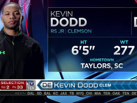 Watch: Titans pick Kevin Dodd No. 33