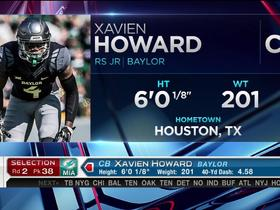 Watch: Dolphins pick Xavien Howard No. 38