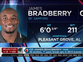 Watch: Panthers pick James Bradberry No. 62