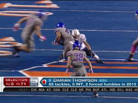 Watch: Giants pick Darian Thompson No. 71