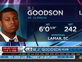 Watch: Giants pick B.J. Goodson No. 109