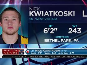 Watch: Bears pick Nick Kwiatkoski No. 113