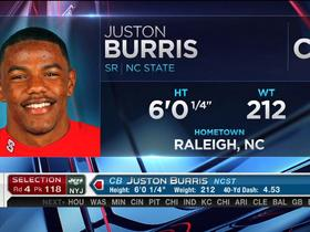 Watch: Jets pick Juston Burris No. 118