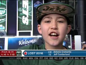 Watch: Young fan cheers on his J-E-T-S during Draft
