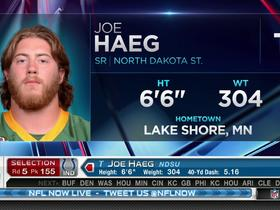 Watch: Colts pick Joe Haeg No. 155