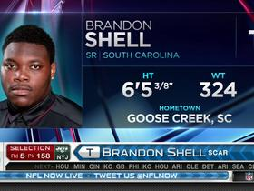 Watch: Jets pick Brandon Shell No. 158