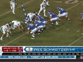 Watch: Falcons pick Wes Schweitzer No. 195