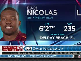 Watch: Chiefs pick Dadi Nicolas No. 203
