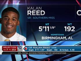 Watch: Titans pick Kalan Reed No. 253