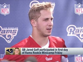 Watch: Goff on first practice: 'It's like you're going into Spanish class'