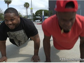 Watch: Ike and MJD join the #22pushupsfor22days challenge