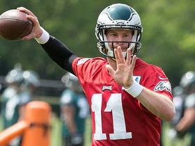 Watch: Eagles' coaches present conflicting comments on QB competition