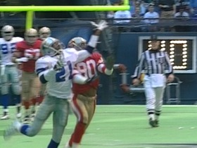 Watch: 1995 Deion Sanders breaks up Jerry Rice catch