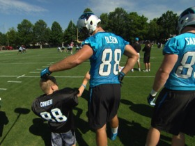 Watch: Parker Cowherd's Panthers wish comes true