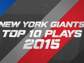 Watch: New York Giants Top 10 plays of 2015