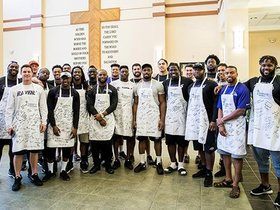 Watch: Ravens Rookies Serve At Helping Up Mission