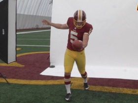 Watch: Tress Way At Redskins Photo Day