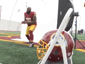 Watch: Morgan Moses At Redskins Photo Day