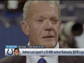 Watch: Jim Irsay discusses Andrew Luck's contract extension