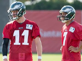 Watch: Darlington: Reps are being split by all three Eagles QBs