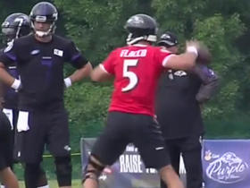 Watch: Joe Flacco active at training camp after ACL tear