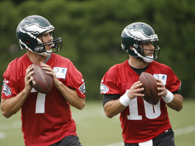 Watch: How does Eagles QB's splitting first-team reps impact Bradford?