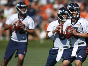 Watch: Broncos QBs splitting first-team reps