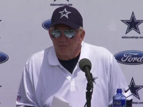 Watch: Jones: 'We don't let injuries dictate personnel decisions'
