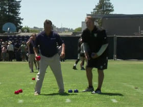 Watch: Mariucci challenges Jack Del Rio to Bocce Ball