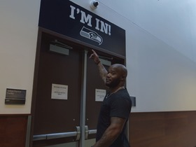 Watch: Back 2 Camp: Michael Robinson chills with the Seattle Seahawks