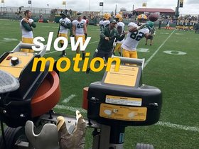 Watch: Richard Rodgers catches in slow motion