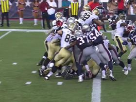 Watch: Saints Mark Ingram dives over the pile for the TD