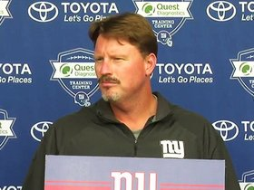 Watch: McAdoo: Cruz Update and expecations for the Jets