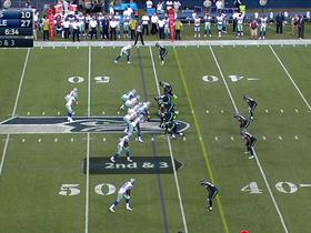 Watch: Seattle defense forces and recovers a fumble