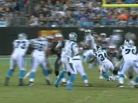 Watch: Cam Newton finds Kelvin Benjamin for the 11 yard gain
