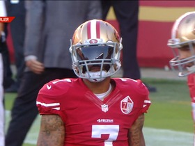 Watch: Kaepernick doesn't know the visor rules
