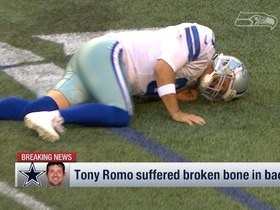 Watch: Tony Romo suffered broken bone in back