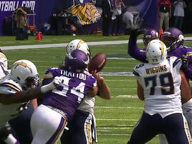 Watch: Vikings strip Kellen Clemens and recover fumble