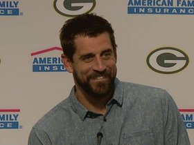 Watch: Rodgers: 'Feel good about the work we did tonight'