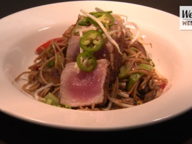 Watch: Wellness Wednesday: Seared Tuna w/ Soba Noodles