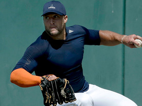 Watch: Tim Tebow works out for MLB teams