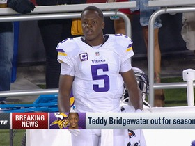 Watch: Teddy Bridgewater tears ACL, out for season
