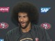 Watch: Colin Kaepernick reacts to bombardment of questions