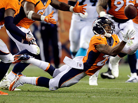 Watch: Chris Harris Jr. makes diving interception on tipped pass