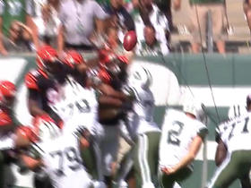 Nick Folk field goal blocked by Margus Hunt