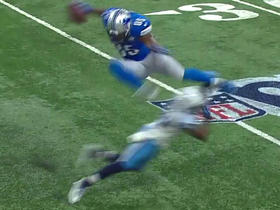Eric Ebron jumps a defender on the catch
